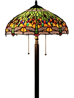 Dale tiffany tf13066 briar dragonfly floor lamp antique bronze tiffany style dragonfly green floor lamp 64 inch by 18 inch mozeypictures Images