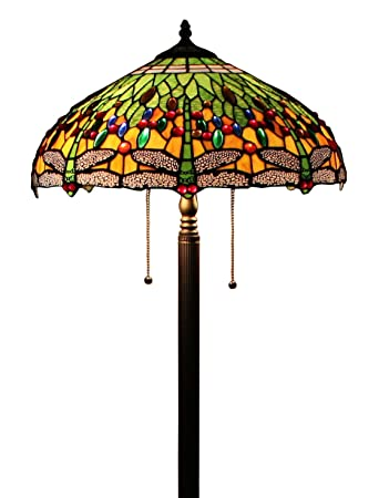Tiffany style dragonfly green floor lamp 64 inch by 18 inch tiffany style dragonfly green floor lamp 64 inch by 18 inch aloadofball Choice Image