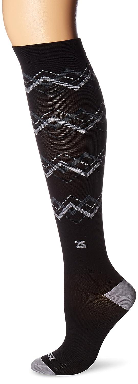 Noir gris S Zensah Compression Homme Chevron Argyle Socks Compression