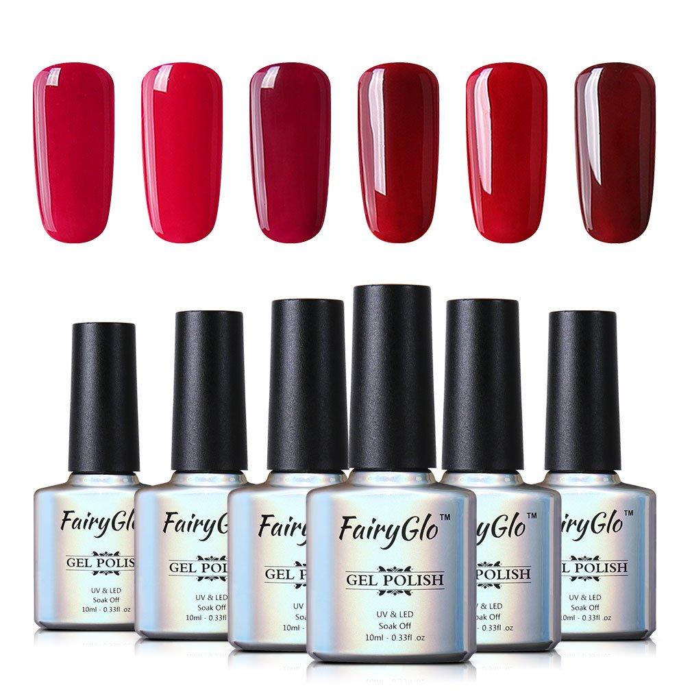 Amazon.com : FairyGlo Nail Polish UV LED Gel Nails Art Soak Off ...