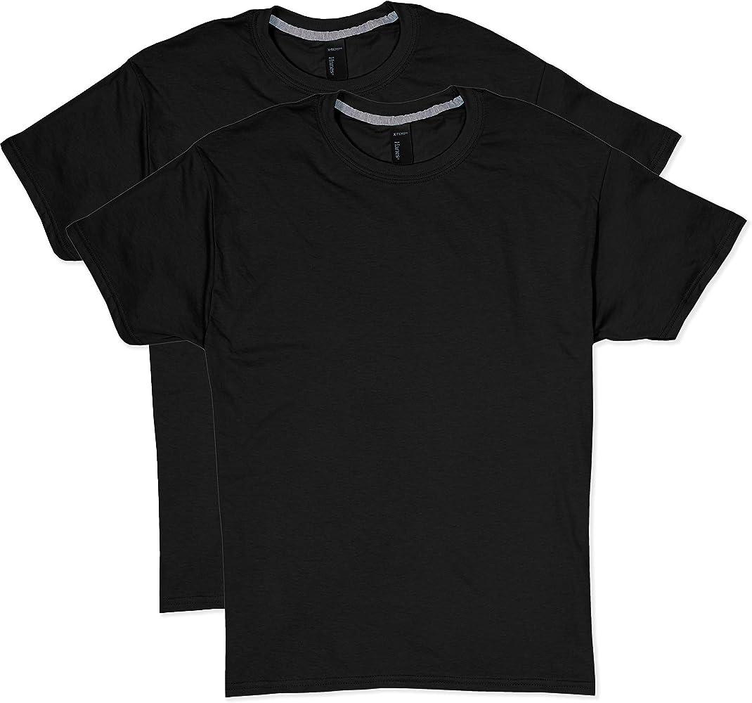 6-Pack Black T-Shirts Hanes X-Temp//Comfort Cool Men/'s Crewneck Size Small