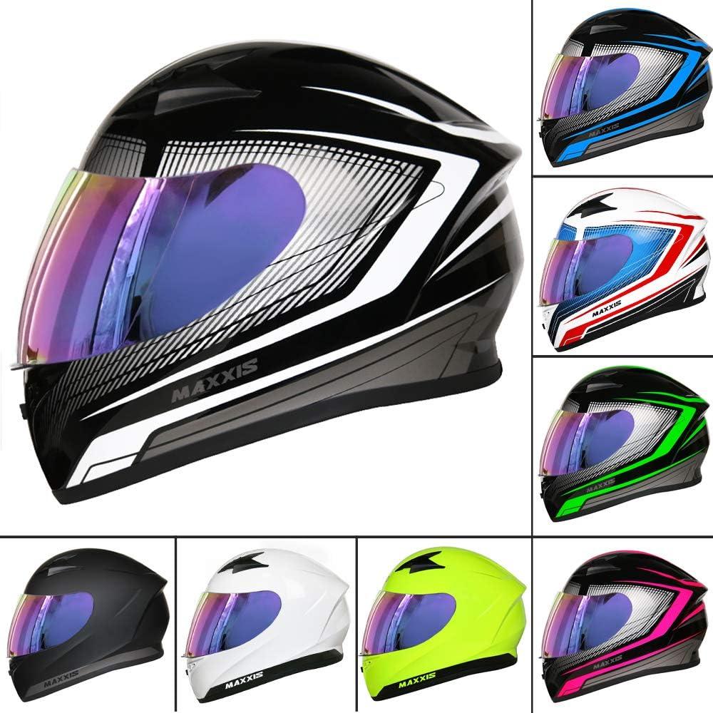 Extra Iridium Visor Leopard LEO-813 Full Face Motorbike Motorcycle Helmet ECE 22.05 Approved