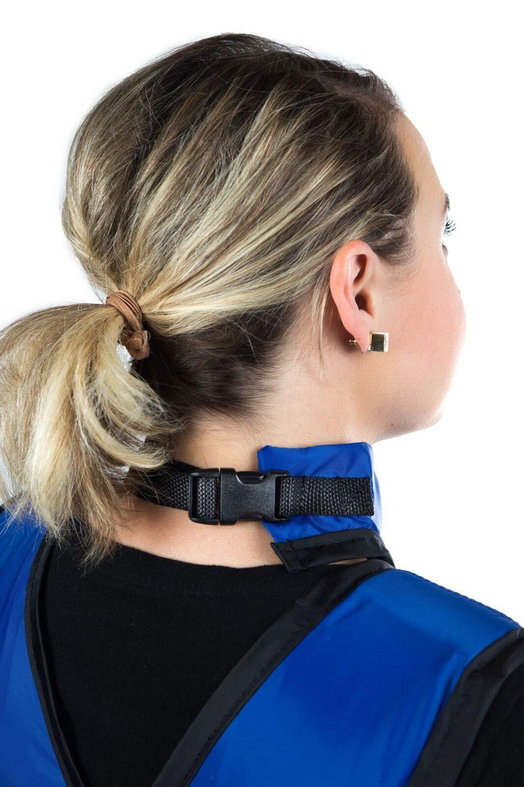 Standard No-Binding Thyroid Collar w/Buckle Closure, Regular Lead, 0.5mm Pb Lead Equivalency, Forest