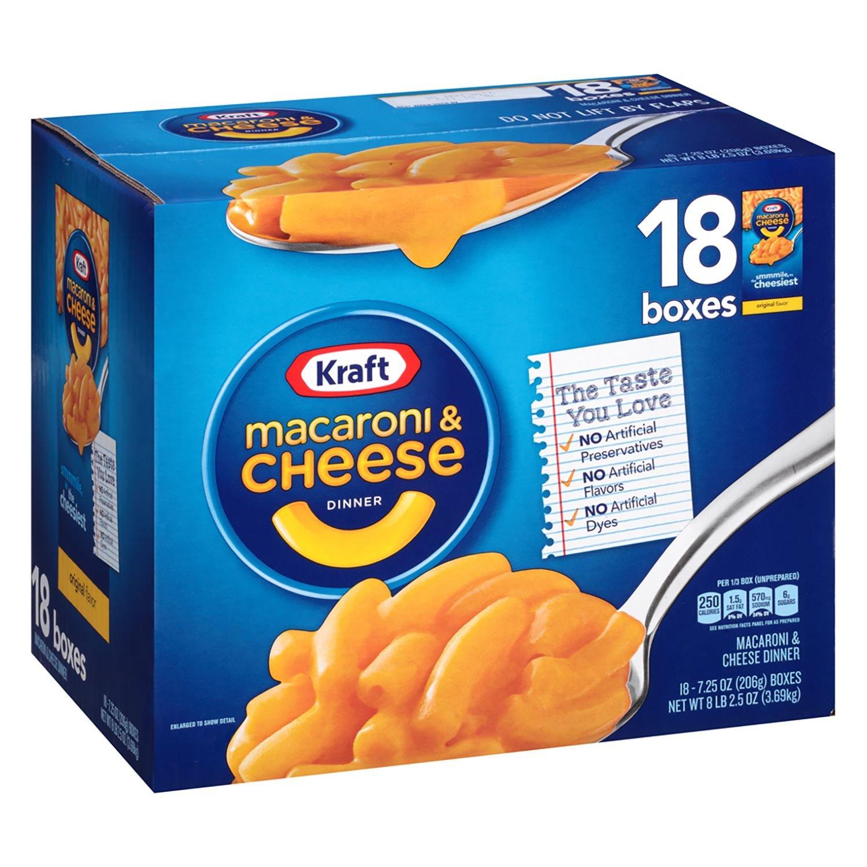 Kraft Macaroni and Cheese (18 ct. box)