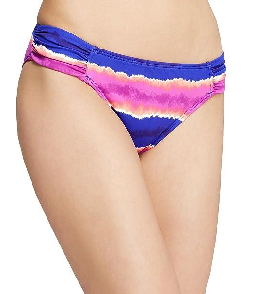 bd9a92428 Tommy Bahama Women s Ruched Side Tab Hipster Bikini Bottom (Danubio Blue