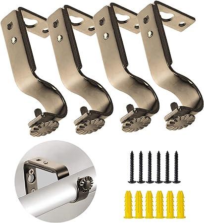 4 Pezzi Regolabile Supporto Staffa A Muro In Metallo per