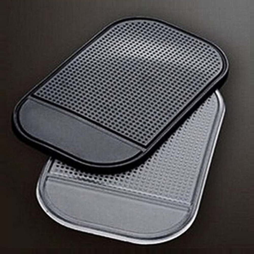 Funrarity Magic Anti-slip Non-slip Mat Car Dashboard Adhesive Mat Sticky Pad for Cell Phone Cd Electronic Devices Phone Pad Black Pack of 5