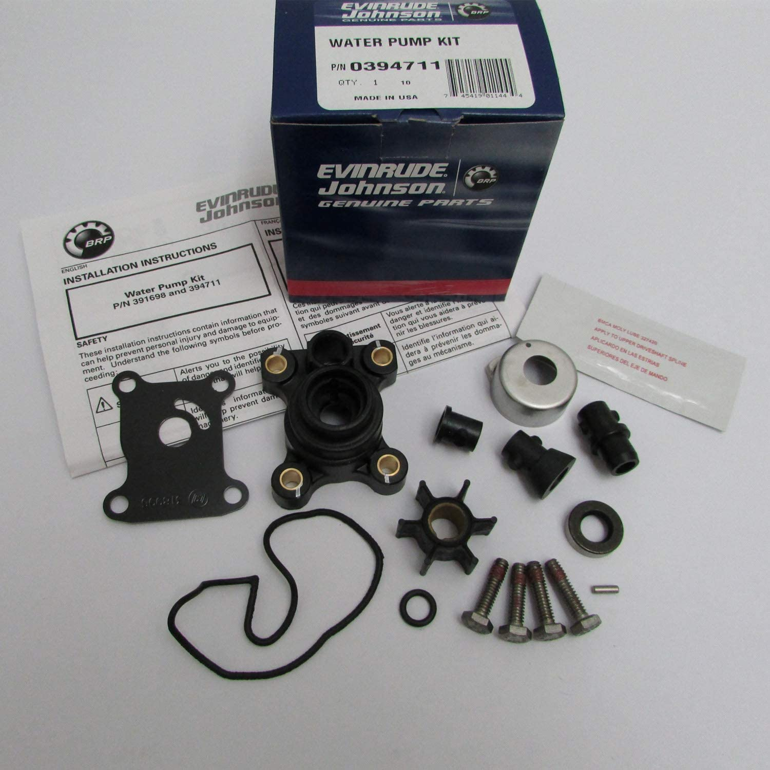 Johnson Evinrude Water Pump Kit 1974-2006 9.9 15 394711