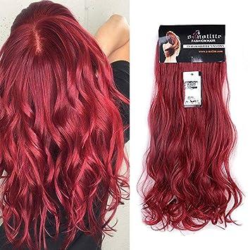Amazon.com : 24\' Curly Maroon Mix Dark Red