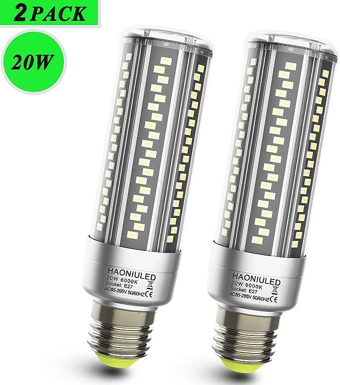 131 opinioni per Lampadine LED E27 Luce Bianca Fredda 20W 2500LM 6000K Equivalenti a 200W