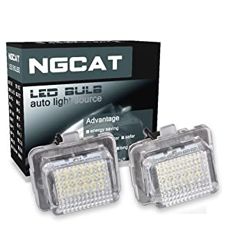 NATGIC 1 Pair 3528 18SMD White 6000K LED License Number Plate Light Lamps For Renault Twingo Clio Megane Lagane Car Styling 150