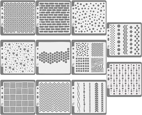 Schablonen Set 12 Stuck Kunststoff Vorlagen 7