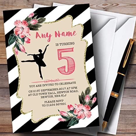 Amazon.com: Negro & Blanco Floral De bailarina fiesta de ...