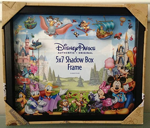 Amazon.com: Disney Park Storybook Character 5x7 Shadowbox Colorful ...