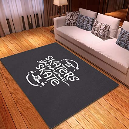 Buy Rouihot Non Slip Area Rug 2 7 X 6 Skaters Gonna Skate Skateboarding Related Lettering About Skateboard Activity Rugs Carpet For Classroom Living Room Bedroom Dining Kindergarten Room Online At Low Prices In India