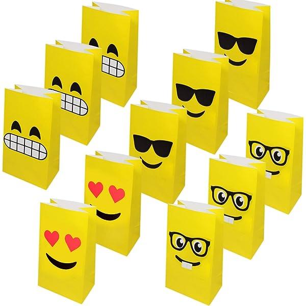 36 Bolsas de Regalo de Emoji - Bolsas Detalles y golosinas ...