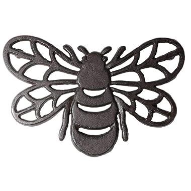 DEI 4.5 Inches x 8 Inches Cast Iron Bee Trivet Kitchen Accessories