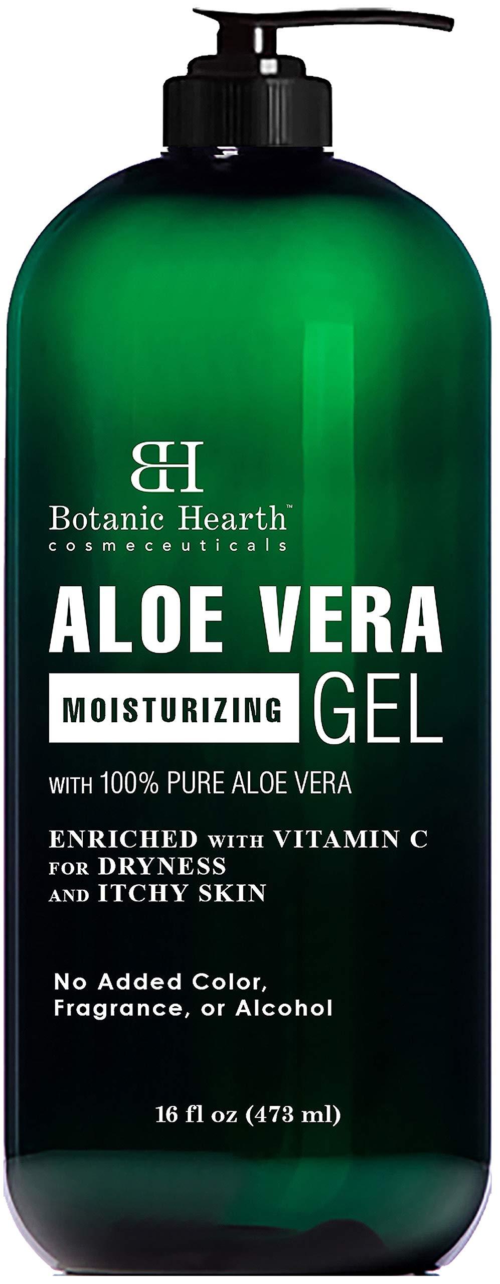 Botanic Hearth Aloe Vera Gel - From 100% Pure and Natural Cold Pressed Aloe Vera, 16 fl oz by Botanic Hearth