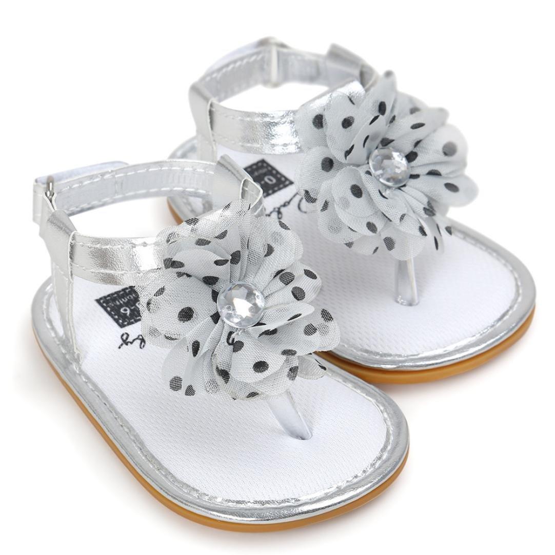 b7cbbf830b0 Zapatos para bebé Sandalias niñas Verano ❤ Amlaiworld Zapatillas Sandalias  de Perlas con Flores de ...