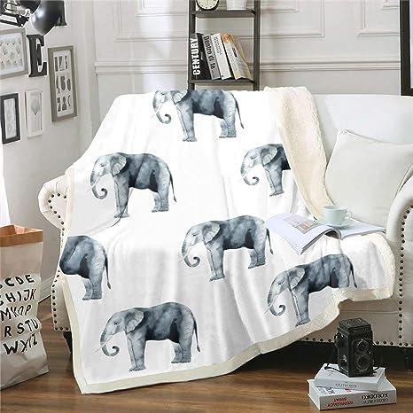 Elephant Fleece Blanket House Decor Gift New House Gift Sofa Fleece Blanket