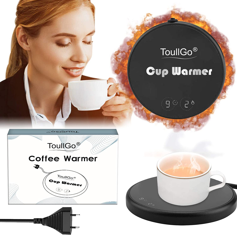 Milch Kaffee fuguzhu Tassenw/ärmer USB Smart Elektrischer Kaffeetassenw/ärmer,Kaffee Becher W/ärmer Heizplatte f/ür Tee PC B/üro Zuhause Wei/ß