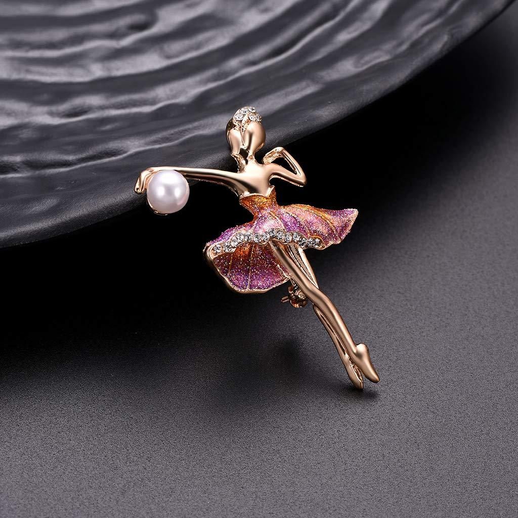 WOMEN CHIC BALLET DANCER GIRL RHINESTONE CORSAGE BROOCH PIN JEWELRY GIFT SUPREME