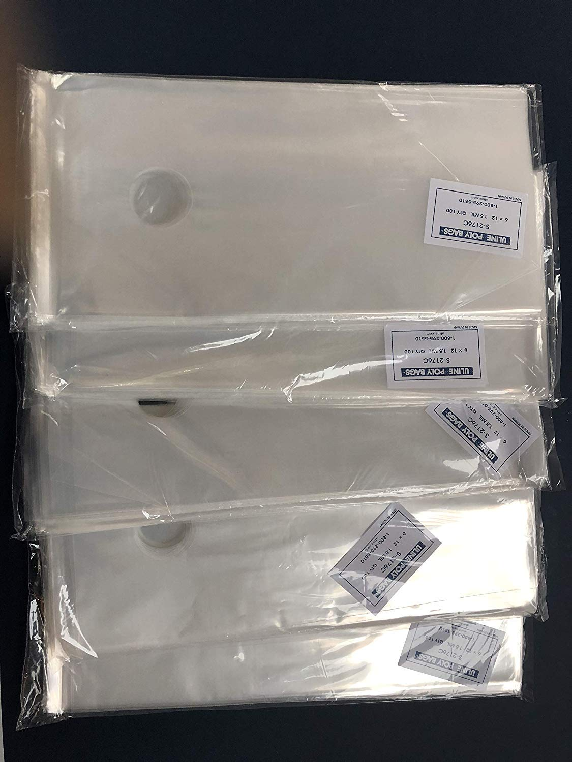 200 CLEAR 6 x 6 POLY BAGS PLASTIC LAY FLAT OPEN TOP PACKING ULINE BEST 1 MIL