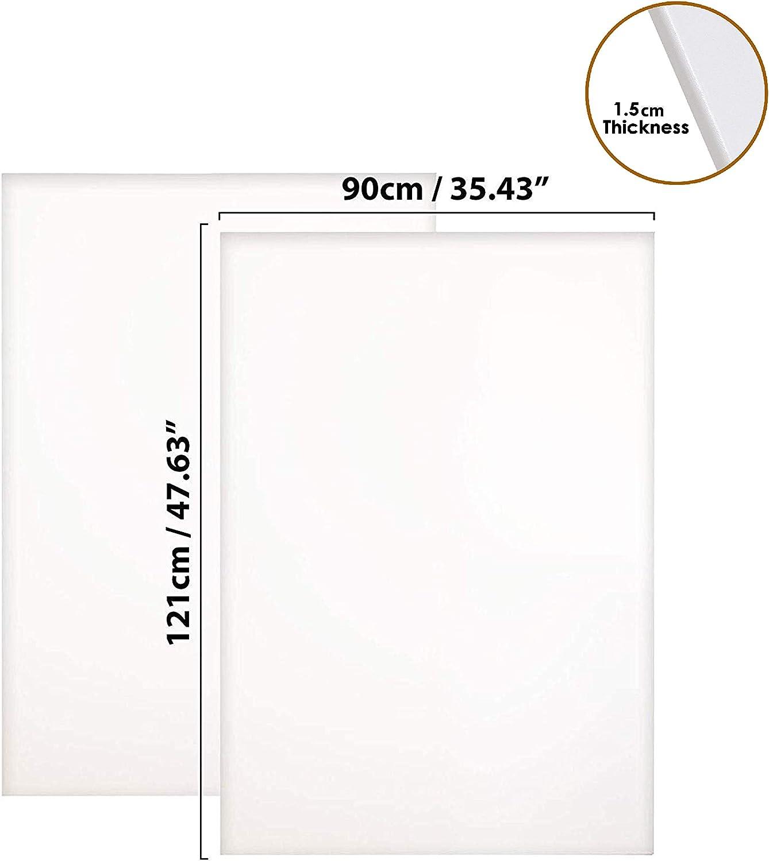 Kurtzy Set 2 Lienzos Lienzo en Blanco para Obras de Arte Lienzos Grandes con Cu/ñas de Madera Paneles de Lienzos Artes para Pintura Lienzos Pre Estirados 121cm x 90cm