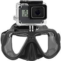 Máscara de buceo submarina Gafas de snorkel compatible with GoPro Hero (2018) GoPro Hero 7 6 5 4 3, Hero Black, Session
