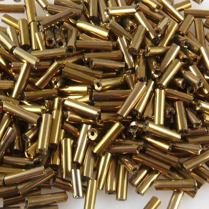 Rocailles-Stifte 7mm silber 500x Röhrchen getwistet Perlen Tubes P1740