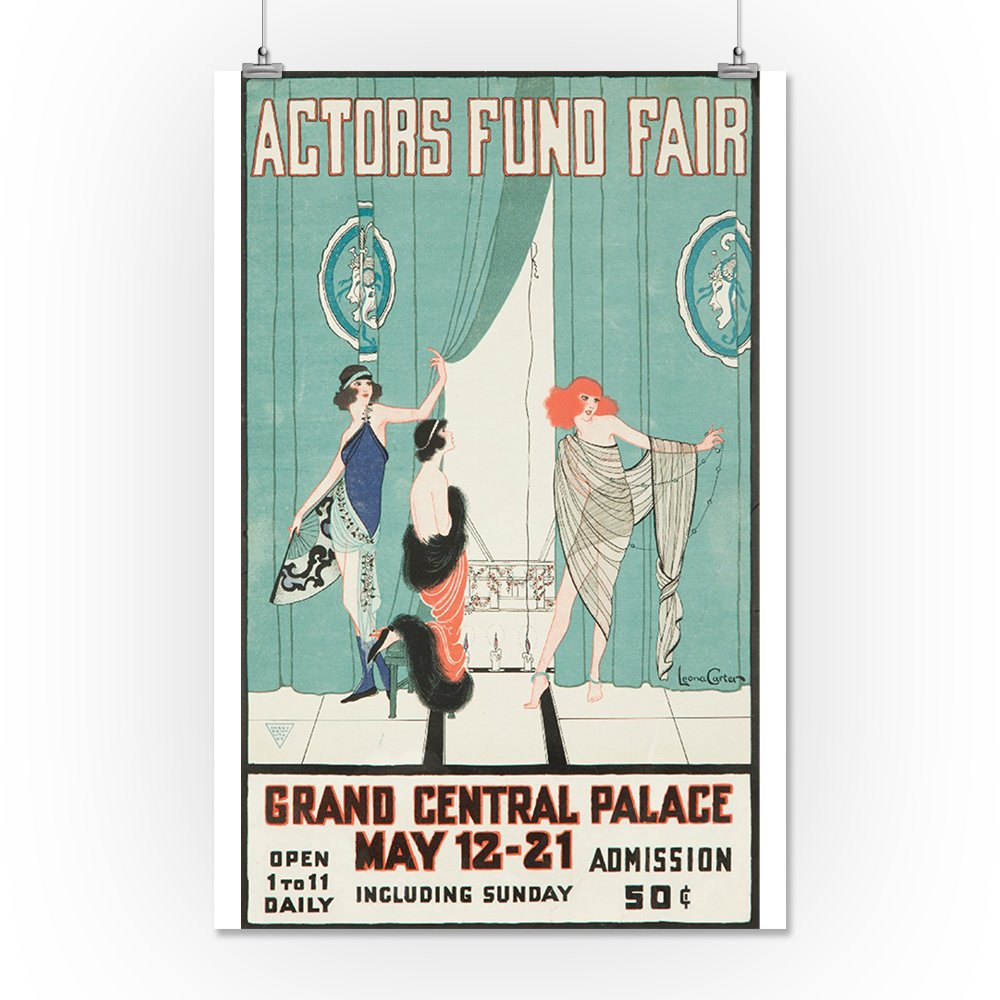Amazon.com: Actors Fund Fair Vintage Poster (Artist: Carter) USA c. 1917 (12x18 Signed Print Master Art Print w/Certificate of Authenticity - Wall Decor ...