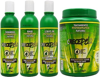 BOE Crece Pelo Fitoterapeutico Champú Natural & Rinse & Leave-in ...