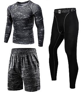 341fb0e4ad2 コンプレッションウェア セット メンズ トレーニング スポーツウェア 長袖 半袖 ハーフパンツ タイツ 吸汗速乾