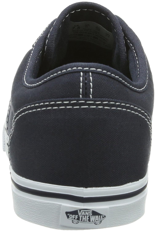 Zapatillas de deporte Vans Womens Atwood Canvas Low Top con cordones Lona Azul  marino Blanco 9b28c27b5b4