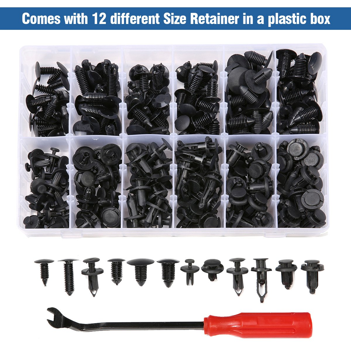 MATCC 240 Pcs Push Retainer Kit Rivet Clips Assortment Set