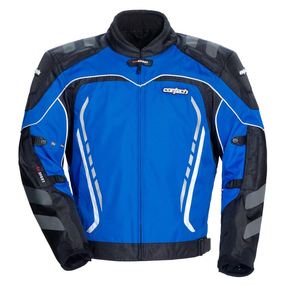 Cortech GX Sport 3 Men's Textile Armored Motorcycle Jacket (Blue/Black, Large)