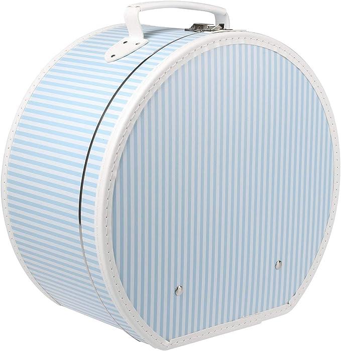 Lierys Caja para Sombrero de Rayas Hombre/Mujer - otoño/Invierno Primavera/Verano - Talla única Celeste: Amazon.es: Ropa y accesorios