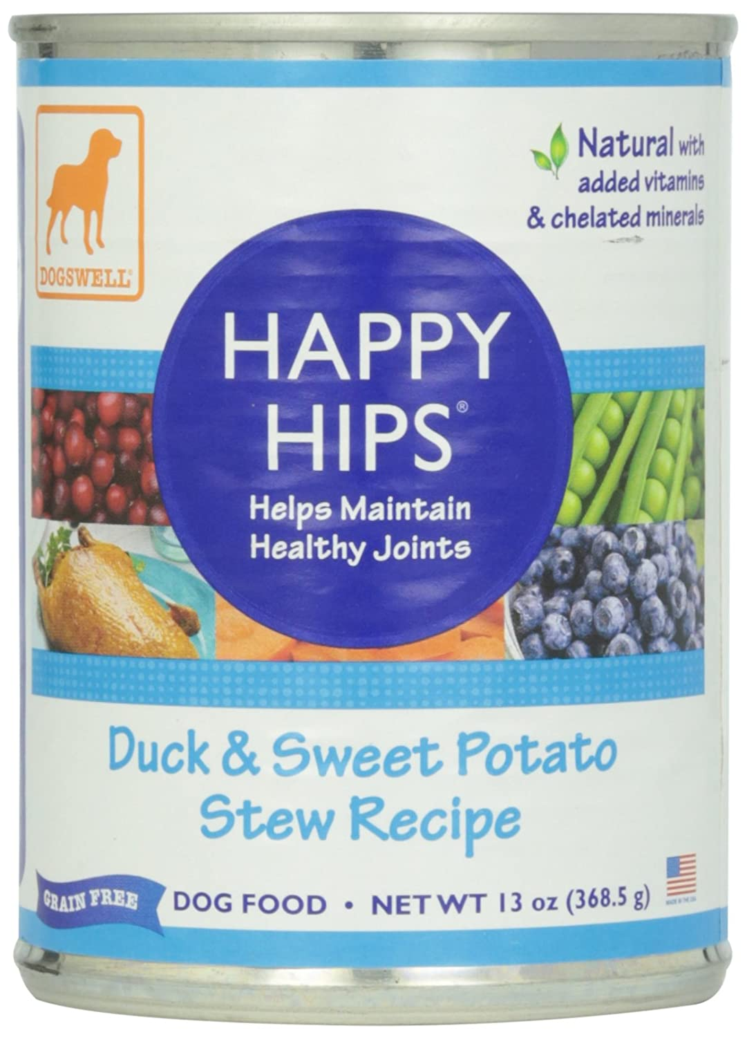 Dogswell Happy Hips Can Dog Food 12 Pack Duck