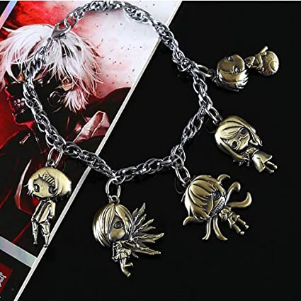 HiRudolph Tokyo Ghoul Ken Kaneki Rin Kirishima Toka Character Bracelet Cosplay Hand Chains