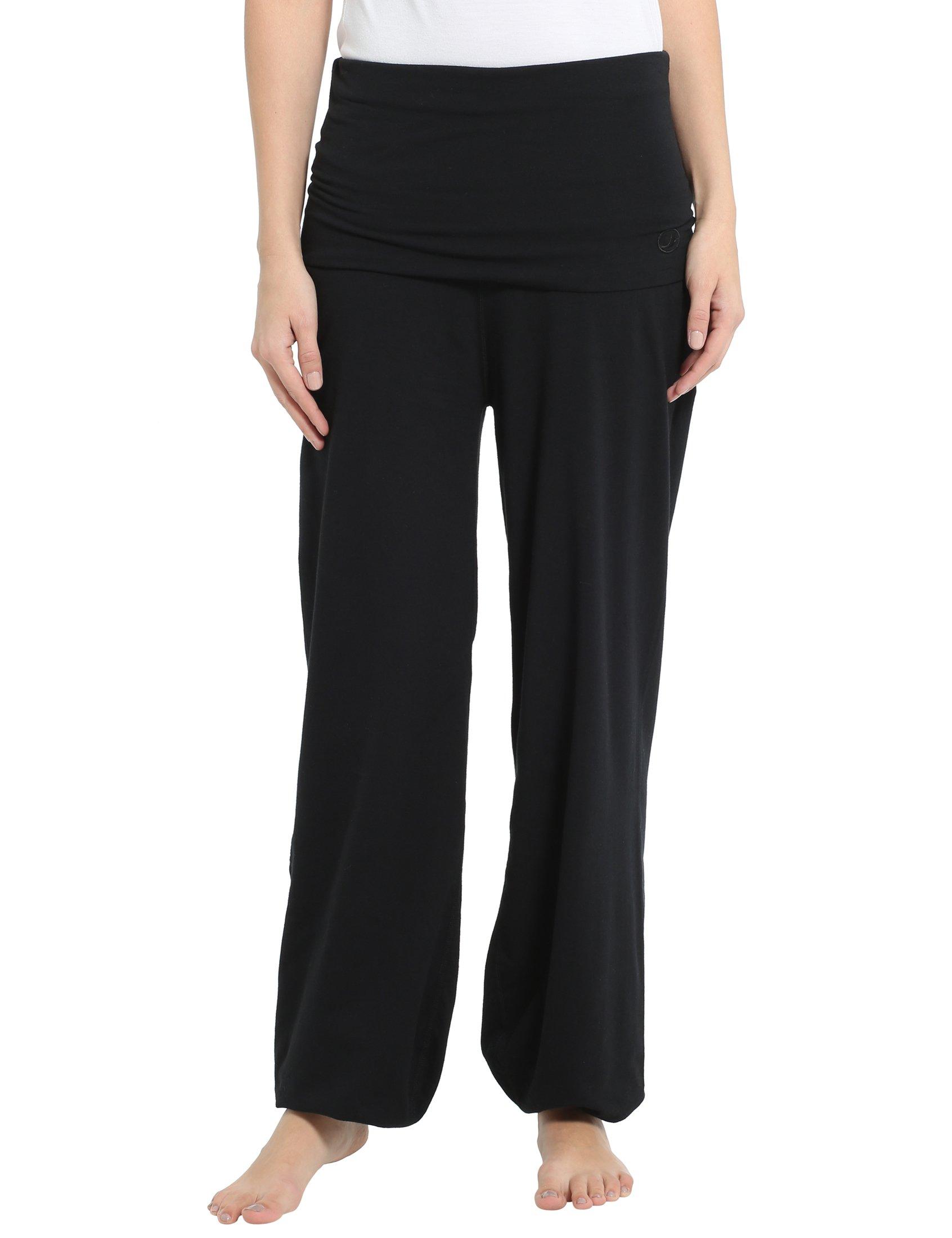 Ultrasport Pantalones de Yoga para Mujer Balance - Pantalones Harem de Mujer  con Puños de Canalé - Pantalones Bombachos Mujer Holgados Estilo Tailandés f5ec47e1e5d