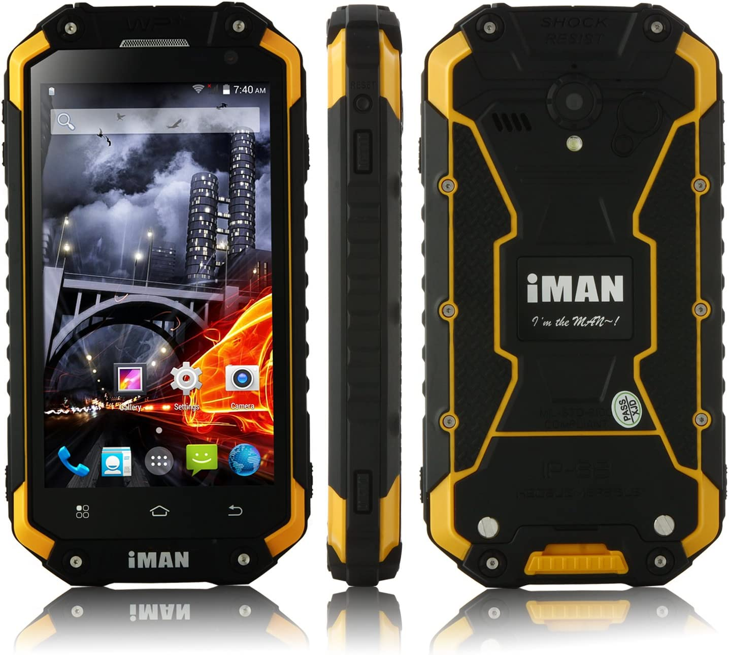 4.7 Pulgada iMAN i6 Walkie Talkie Smartphone IP68 Android 4.4 ...
