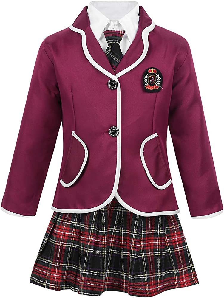 iiniim Uniforme Escolar Niño Niña Oxford Camisa Manga Larga ...