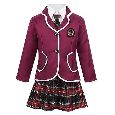 MSemis - Conjunto de Uniforme Escolar japonés británico para niñas ...
