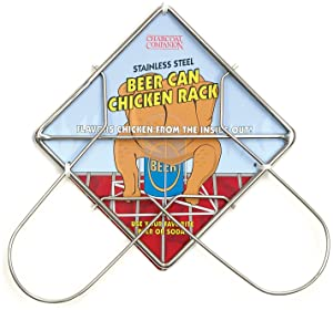 Charcoal Companion Beer Can Chicken Roaster Rack Stainless Steel BBQ Roasting Holder CC3005