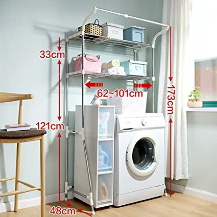 DIDIDD Shelf Hwf Bathroom Shelves Bathroom Multi Function Storage Rack  Washing Machine Shelves(