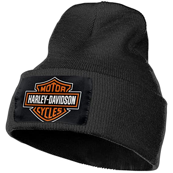 a0d2d5d7f1cd7 Image Unavailable. Image not available for. Color  Harley Davidson Logo  Unisex Winter Hats ...