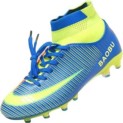 Syndra Botas de fútbol para Hombre Aire Libre Spike Profesionales Zapatillas de fútbol para Exterior Atletismo Training Zapatos de Deporte