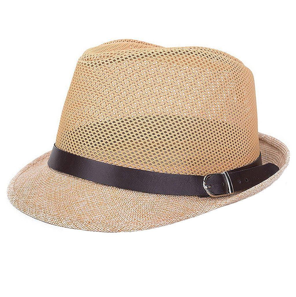 JTC Mens Womens Mesh Hollow Fedora Trilby Gangster Hat Summer Beach Jazz Cap