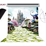 DLMY 5x7ft Alice in Wonderland Photography Backdrops for Kids Birthday Party Supplies DecorationsPhoto Background for Photo Studio Props