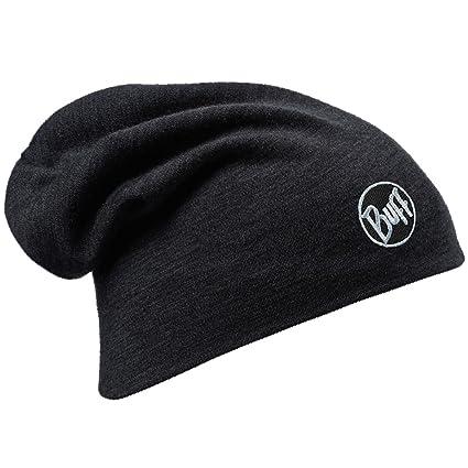 f0cd768059b Amazon.com  Black Merino Wool Thermal Beanie  Clothing